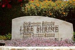Fellowship Lake Shrine Royalty Free Stock Photo