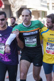 Fellowship among runners, Mitja Marato Granollers Royalty Free Stock Photography