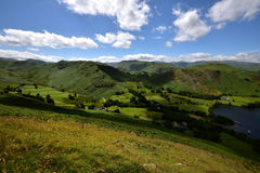 The fells of Howtown Stock Image