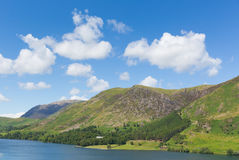 Fells or mountains Buttermere Lake District Cumbria England uk on a beautiful blue sky sunny summer day Stock Images