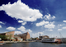 Fells Point. View of Fells Point harbor in Baltimore, Maryland Royalty Free Stock Photos