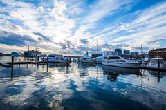 Fells Point Water Front Boats in Baltimore, Maryland royalty free stock photo
