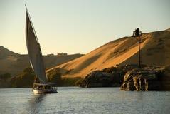 Felluca auf dem Nil Stockfoto
