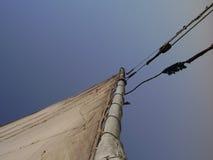 Felluca detail. Detail of  felluca - boat on river Nile Royalty Free Stock Images