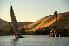 Felluca on the Nile Stock Photo