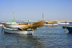 Felluca van de visserij op het legt vast Royalty-vrije Stock Fotografie