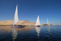 Fellucca Aswan, Egypten fotografering för bildbyråer