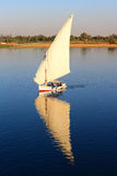 Fellucca on the Nile River Egypt Stock Images