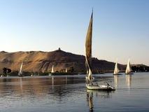 Fellukahs en el Nilo Fotos de archivo