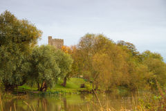 Felmersham church in England from river ouse Stock Photography