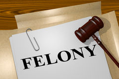 Felony - legal concept Royalty Free Stock Images