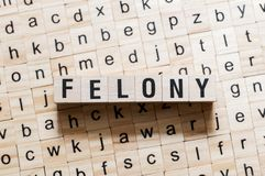 Felony word concept stock photo