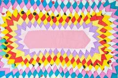 Felpudo colorido de la tela Foto de archivo
