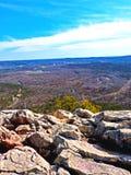Felsen über Little Rock Stockfoto