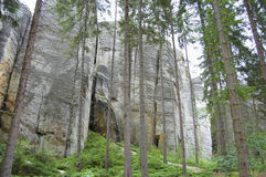Felsen Adrspach Teplice - Tschechische Republik Stockbilder