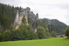 Felsen Adrspach Teplice - Tschechische Republik Stockfoto