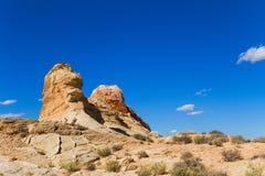 Felsen-Anordnungen in der Wüste Lizenzfreie Stockbilder