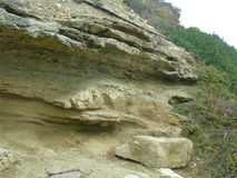 Felsen auf dem Meer Stockbild