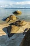 Felsen auf dem Strand stockbilder