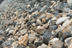 Felsen auf der Eisenbahn Lizenzfreies Stockbild