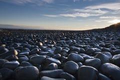 Felsen auf der Küste Stockfoto