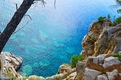 Felsen auf der Küste von Montenegro Lizenzfreies Stockfoto