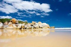 Felsen auf Strand Stockbild