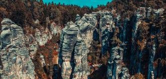 Felsen auf Tschechisch Stockfotografie