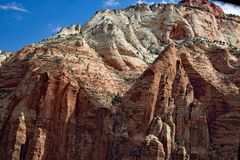 Felsen beim Zion National Park Utah USA Stockbild