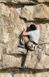 Felsen-Bergsteiger Stockfoto
