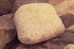 FELSEN-BODEN-HINTERGRUND in der Weinlese-Art Beschaffenheit der Steine Abstrakte Beschaffenheit und Hintergrund für Designer, DUB Stockbilder