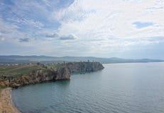Felsen Bogatyr, See Baikal Lizenzfreie Stockfotos