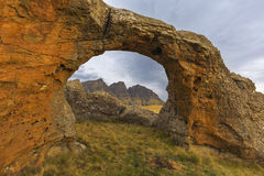 Felsen-Bogen bei Sehlabathebe Stockfotos