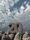 Felsen der Nr. zwanzig vektor abbildung