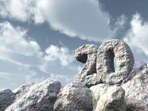 Felsen der Nr. zwanzig Stockbilder