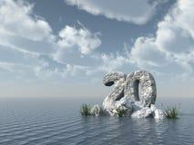 Felsen der Nr. zwanzig am Wasser Stockfoto