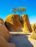 Felsen in der Spitskoppe-Wüste stockbild