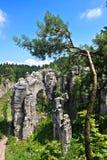 Felsen in der Tschechischen Republik Stockfotografie