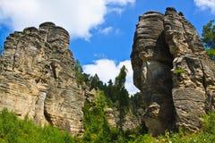 Felsen in der Tschechischen Republik Lizenzfreies Stockbild