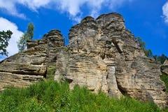 Felsen in der Tschechischen Republik Stockfotos