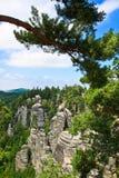 Felsen in der Tschechischen Republik Stockbild