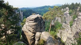 Felsen an der Tschechischen Republik Lizenzfreie Stockbilder