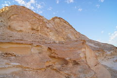 Felsen in der weißen Wüste stockfoto