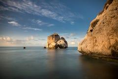 Felsen des Griechen, der Felsen der Aphrodite, Zypern Stockfotos