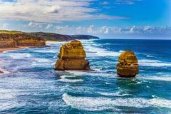 Felsen des Küstenstreifens lizenzfreies stockbild