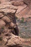 Felsen des roten Sandsteins Stockbild