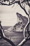 Felsen des Schnabels Eagles über dem Meer am La Ciotat Lizenzfreies Stockbild