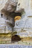 Felsen-Detail - Normandie-Küstenlinie stockfotos