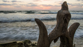 Felsen durch das Meer Stockfotos
