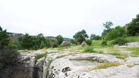 Felsen-Grab Phrygia-Tal in der Türkei stock video footage